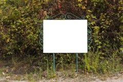 Dettaglio ad un segno in bianco fotografia stock