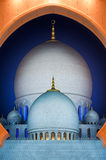 Dettaglio alla moschea, Abu Dhabi, Emirati Arabi Uniti Immagini Stock Libere da Diritti