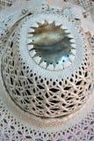 Dettaglio alto di fine tessuto donna di Islander Rito Hat del cuoco Immagine Stock