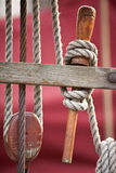 Dettaglio antico della barca a vela Immagini Stock