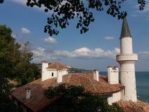 Dettaglio anziano del castello della regina Maria Fotografie Stock
