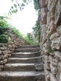 Dettaglio anziano del castello della regina Maria in Balchik, Bulgaria Immagine Stock Libera da Diritti