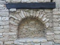 Dettaglio anziano del castello della regina Maria in Balchik, Bulgaria Fotografie Stock Libere da Diritti