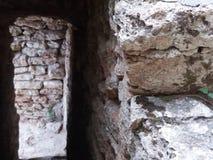 Dettaglio anziano del castello della regina Maria in Balchik, Bulgaria Fotografie Stock