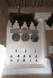 Dettaglio arabo dell'iscrizione nella fortificazione di Al Masmak Fotografia Stock
