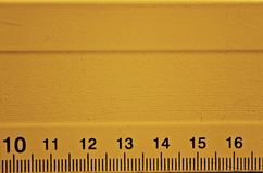 Dettaglio arancio del righello Fotografia Stock Libera da Diritti