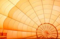 Dettaglio arancio dell'aerostato Fotografia Stock Libera da Diritti