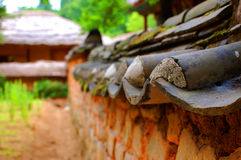 Dettaglio architettonico coreano Fotografia Stock Libera da Diritti