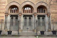 Dettaglio architettonico dell'edificio di Neue Synagoge a Berlino, Germania fotografia stock libera da diritti