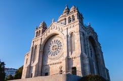 Dettaglio architettonico della basilica di Santa Luzia a Viana do Castelo fotografia stock libera da diritti
