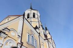 Dettaglio architettonico della chiesa della resurrezione, Russia immagine stock libera da diritti