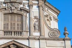 Dettaglio architettonico di Roman Catholic Baroque San Giuseppe immagini stock libere da diritti