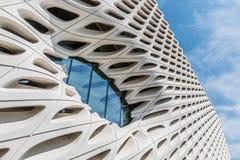 Dettaglio architettonico di vasto museo a Los Angeles, California fotografia stock libera da diritti