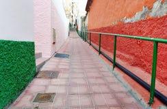 Dettaglio architettonico in San Sebastian de la Gomera fotografia stock