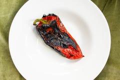 Dettaglio arrostito dell'insalata del peperone Immagine Stock