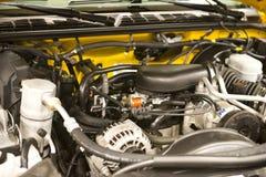Dettaglio automatico del primo piano del motore di automobile Fotografie Stock Libere da Diritti