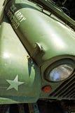 Dettaglio automobile d'annata del temporizzatore di Jeep Willys di vecchia fotografie stock libere da diritti
