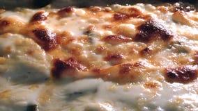 Dettaglio bollente della pizza