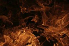 Dettaglio bruciante delle fiamme del fuoco Fotografia Stock Libera da Diritti