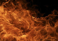 Dettaglio bruciante delle fiamme del fuoco Immagini Stock Libere da Diritti