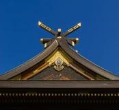 Dettaglio bulding del tetto del santuario Fotografia Stock