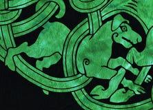 Dettaglio celtico del tessuto di motivo del cane Immagine Stock Libera da Diritti