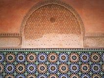 Dettaglio circa Madrasa di Ben Youssef Fotografia Stock