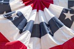 Dettaglio circolare di stelle e strisce della bandiera americana degli S.U.A. Fotografia Stock Libera da Diritti