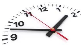Dettaglio classico del fronte di orologio con muoversi dell'usato video d archivio