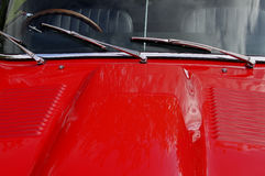 Dettaglio classico e d'annata dell'automobile Fotografia Stock Libera da Diritti