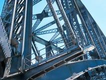 Dettaglio d'acciaio della costruzione del ponte Fotografie Stock Libere da Diritti
