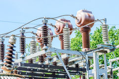 Dettaglio da una centrale elettrica elettrica immagine stock libera da diritti