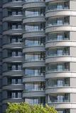 Dettaglio dall'alto blocchetto contemporaneo dell'alloggio di aumento Fotografia Stock Libera da Diritti