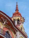 Dettaglio dall'hotel Astoria-precedente Sztarill Palazzo-individuato in Ferd immagine stock libera da diritti