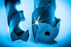 Dettaglio degli utensili per il taglio per la fabbricazione dei fori geometricamente accurati immagini stock libere da diritti