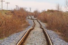 Dettaglio dei binari ferroviari ferroviari Fotografia Stock Libera da Diritti