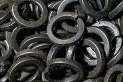 Dettaglio dei bulloni e dei dadi metallici differenti Immagine Stock Libera da Diritti