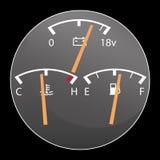 Dettaglio dei calibri di automobile Fotografia Stock