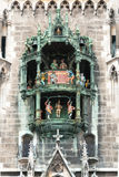 Dettaglio dei campanelli di Monaco di Baviera Rathaus Immagini Stock Libere da Diritti