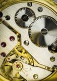 Dettaglio dei funzionamenti dell'orologio da tasca di un uomo Fotografia Stock Libera da Diritti