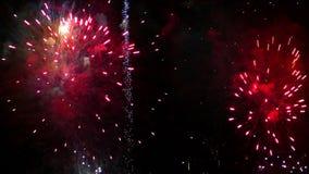 Dettaglio dei fuochi d'artificio video d archivio