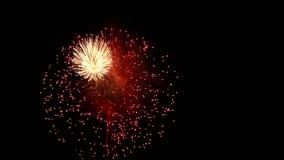Dettaglio dei fuochi d'artificio stock footage