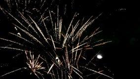 Dettaglio dei fuochi d'artificio archivi video