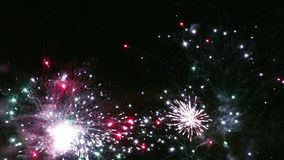 Dettaglio dei fuochi d'artificio al rallentatore video d archivio