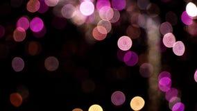 Dettaglio dei fuochi d'artificio unfocused Movimento lento archivi video