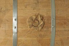 Dettaglio del barilotto del cognac fotografia stock