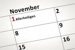Dettaglio del calendario Immagini Stock Libere da Diritti
