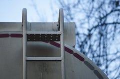 Dettaglio del camion cisterna del combustibile Immagine Stock Libera da Diritti