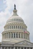 Dettaglio del Campidoglio del Washington DC sul cielo nuvoloso Fotografia Stock