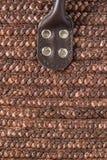 Dettaglio del canestro della paglia Fotografia Stock